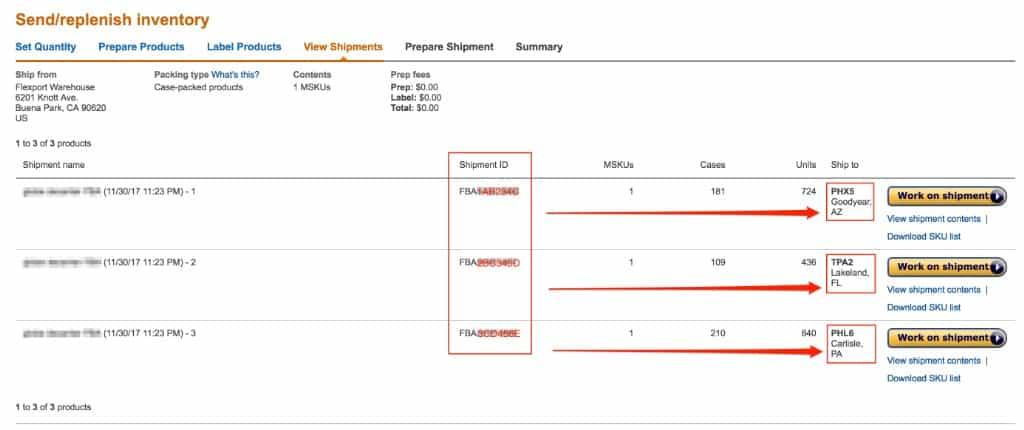 amazon fba split shipments